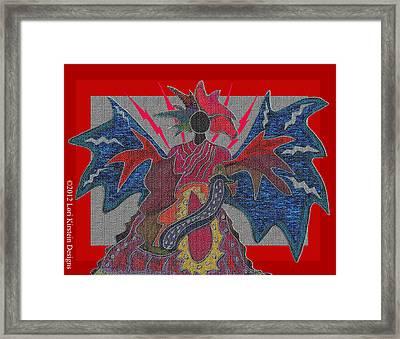 Fire Goddess Framed Print by Lori Kirstein