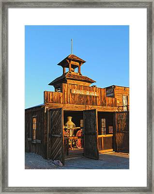Fire Hall Calico Ghost Town Framed Print by Michael Hope