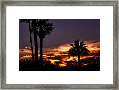 Fire Haven Framed Print by Marquis Crumpton