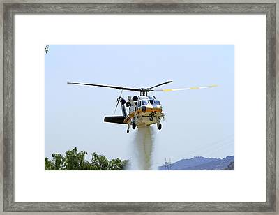 Fire Hawk Water Drop Framed Print
