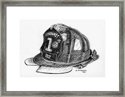Fire Helmet Framed Print