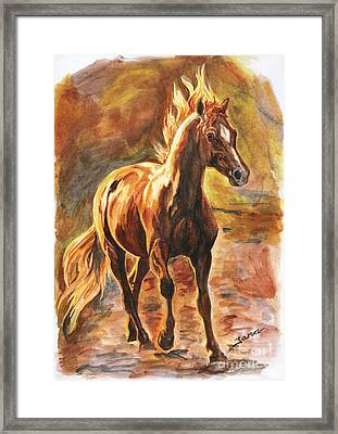 Fire Horse Framed Print by Jana Goode