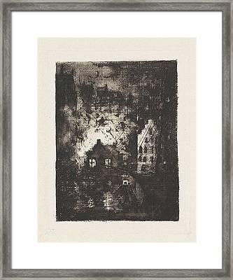 Fire In Brewery De Valk Amsterdam, The Netherlands Framed Print by Frans Schikkinger