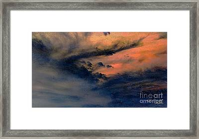 Fire In The Hills Framed Print