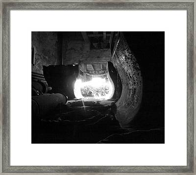 Fire In The Hole Bw Framed Print by Elizabeth Sullivan
