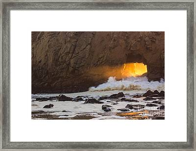 Fire In The Hole Framed Print