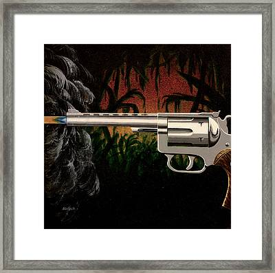 Fire In The Jungle Framed Print by Jack Malloch