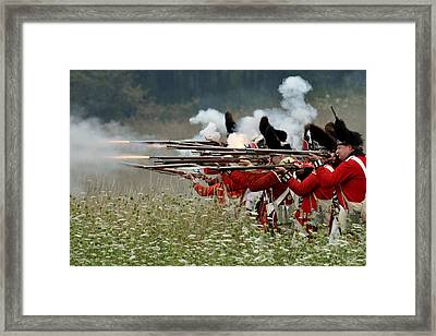 Fire In The Meadow Framed Print by William Coffey