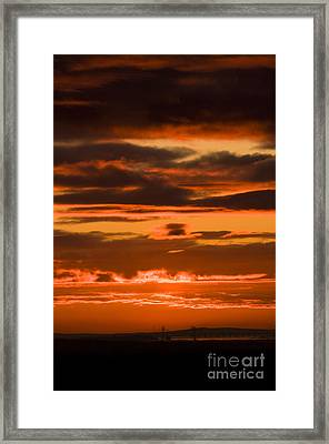 Fire In The Sky Framed Print by Anne Gilbert