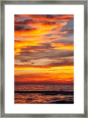 Fire In The Sky Framed Print by Brian Boudreau