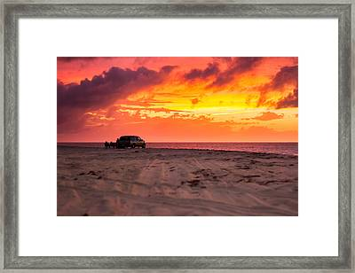 Fire In The Sky Framed Print by Brian Caldwell