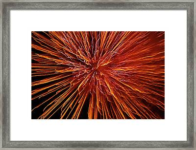 Fire In The Sky Framed Print by Carolyn Marshall