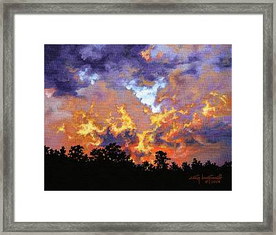 Fire In The Sky Framed Print by Craig T Burgwardt