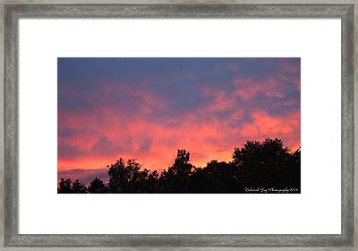 Framed Print featuring the photograph Fire In The Sky by Deborah Fay