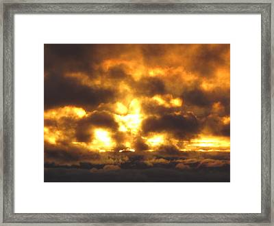 Fire In The Sky Framed Print by Donnie Freeman