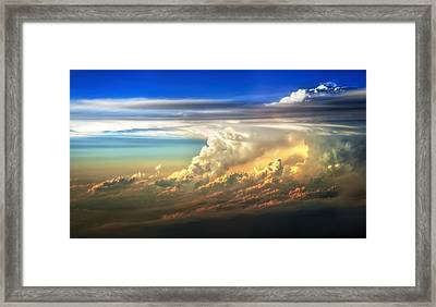 Fire In The Sky From 35000 Feet Framed Print by Scott Norris