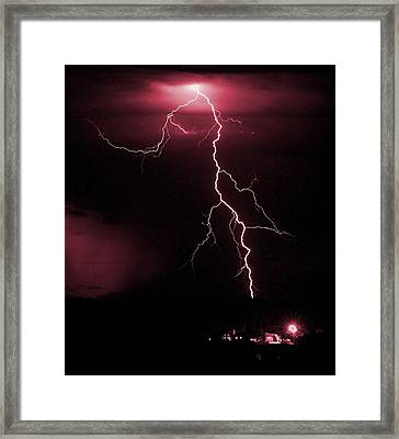 Fire In The Sky Framed Print by HW Kateley
