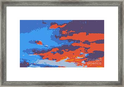 Fire In The Sky Framed Print by James Eye