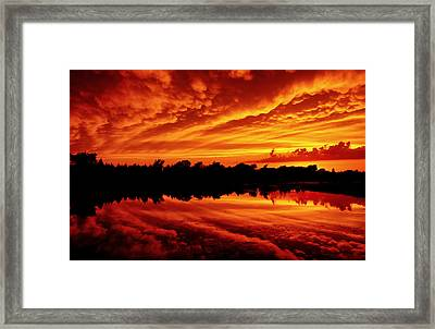 Framed Print featuring the photograph Fire In The Sky by Jason Politte