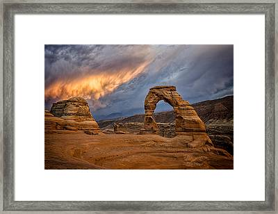 Fire In The Sky Framed Print by Jeff Burton