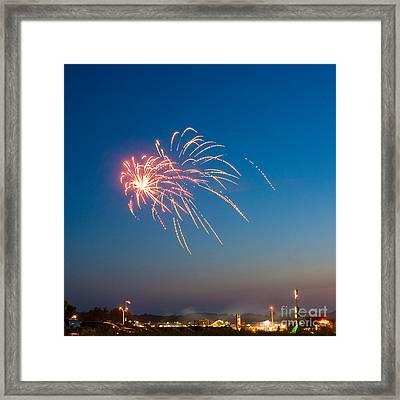 Fire In The Sky Framed Print by Joe Scott