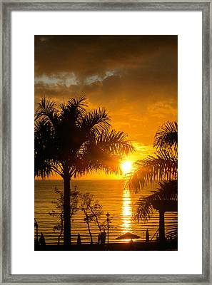 Framed Print featuring the photograph Fire In The Sky by Jon Emery
