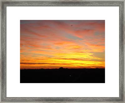 Framed Print featuring the painting Fire In The Sky by J L Zarek