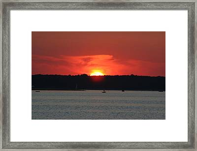 Framed Print featuring the photograph Fire In The Sky by Karen Silvestri