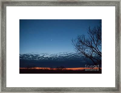 Fire In The Sky Framed Print by Kay Pickens