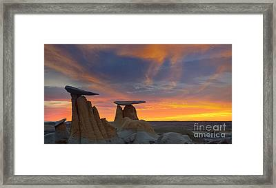 Framed Print featuring the photograph Fire In The Sky by Keith Kapple