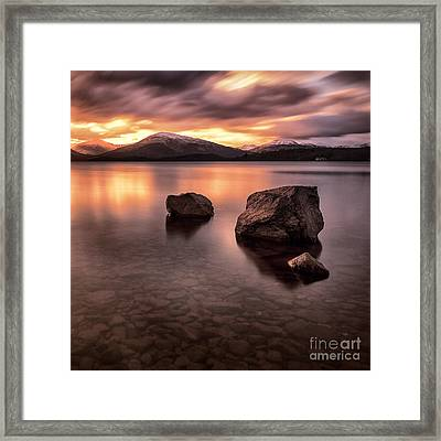 Fire In The Sky Loch Lomond Framed Print by John Farnan