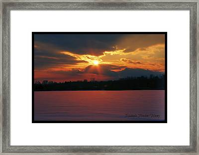 Framed Print featuring the photograph Fire In The Sky by Michaela Preston