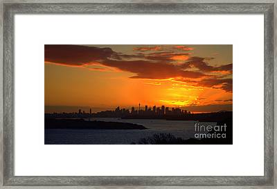 Framed Print featuring the photograph Fire In The Sky by Miroslava Jurcik
