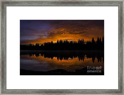Fire In The Sky Framed Print by Nancy Marie Ricketts