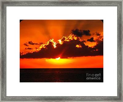 Fire In The Sky Framed Print by Patti Whitten