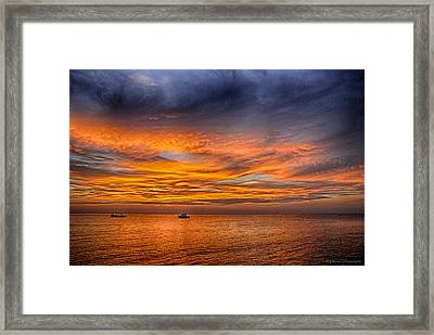 Fire In The Sky Framed Print by Phil Abrams