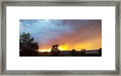 Fire In The Sky Framed Print by Polly Anna