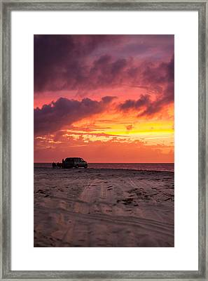 Fire In The Sky Portrait Framed Print by Brian Caldwell