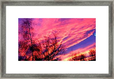 Fire In The Sky Framed Print by Randy Saragosa