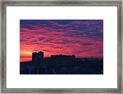 Fire In The Sky Framed Print by Rita Tortorelli