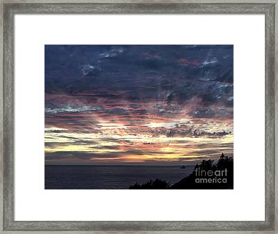 Fire In The Sky Framed Print by Sandra Bronstein