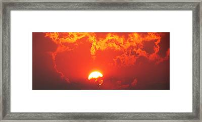 Fire In The Sky Framed Print by Steve Brown
