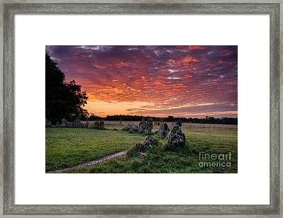 Fire In The Sky Framed Print by Tim Gainey