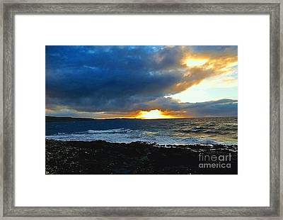Fire In The Skye Framed Print