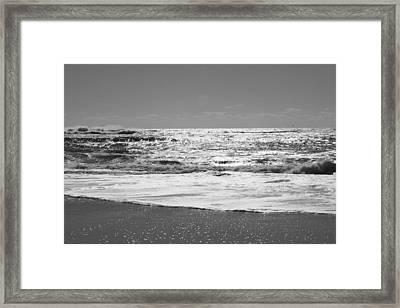 Fire Island Black And White Framed Print by Barbara Bardzik