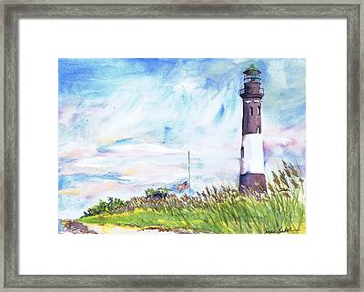 Fire Island Lighthouse Late Summer Framed Print by Susan Herbst