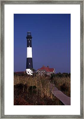 Fire Island Ny Lighthouse Framed Print by Skip Willits