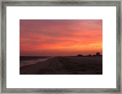Fire Island Sunset Framed Print