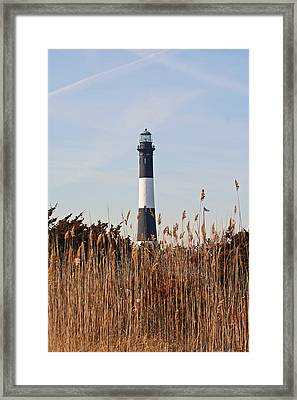 Framed Print featuring the photograph Fire Island Tower by Karen Silvestri