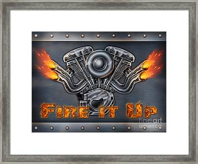 Fire It Up Framed Print by JQ Licensing